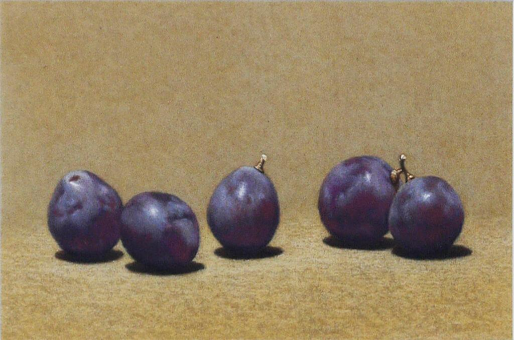 5 grains of grapes