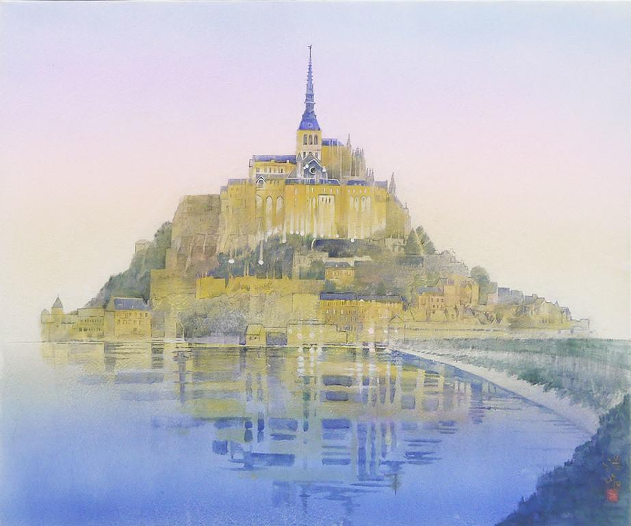 Mont Saint-Michel in morning glow