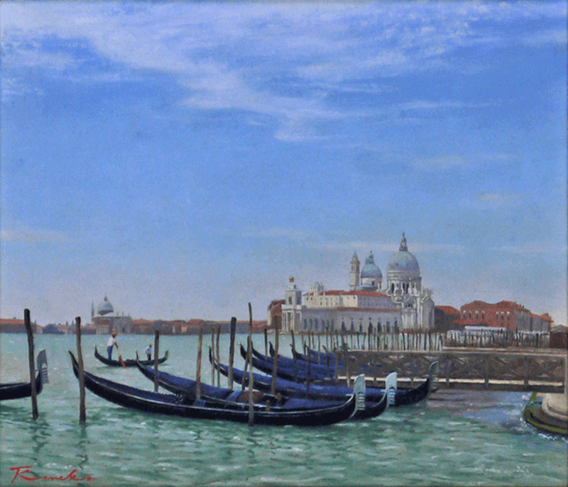 View of the basilica of Santa Maria della Salute