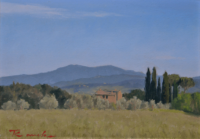 Tuscany house evening