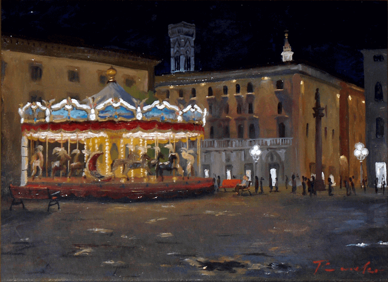 Florence Merry-go-round at night