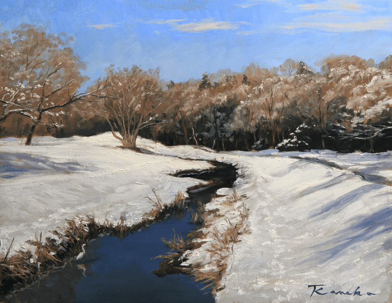 snow melting river