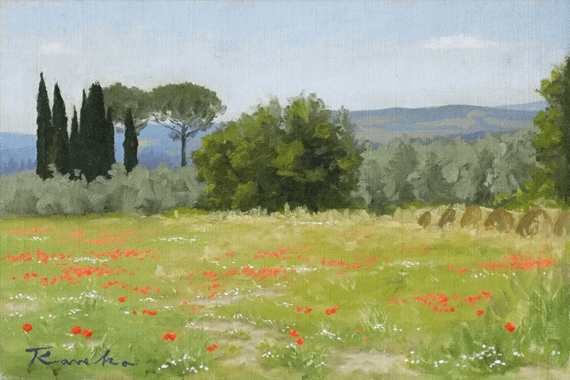 siena Prairies with cypresses