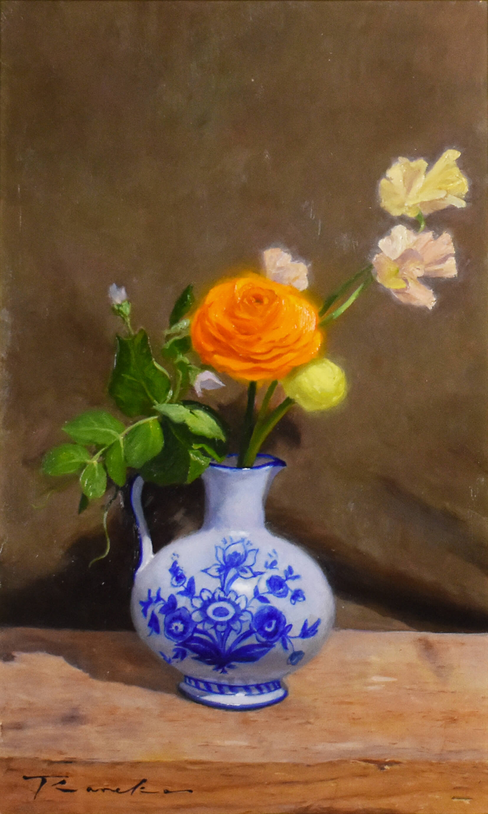 ranunculus with Still life