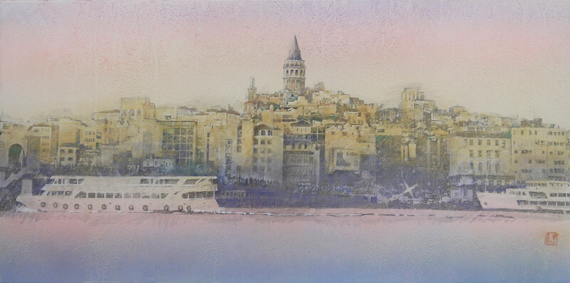 Galata Bridge in morning glow